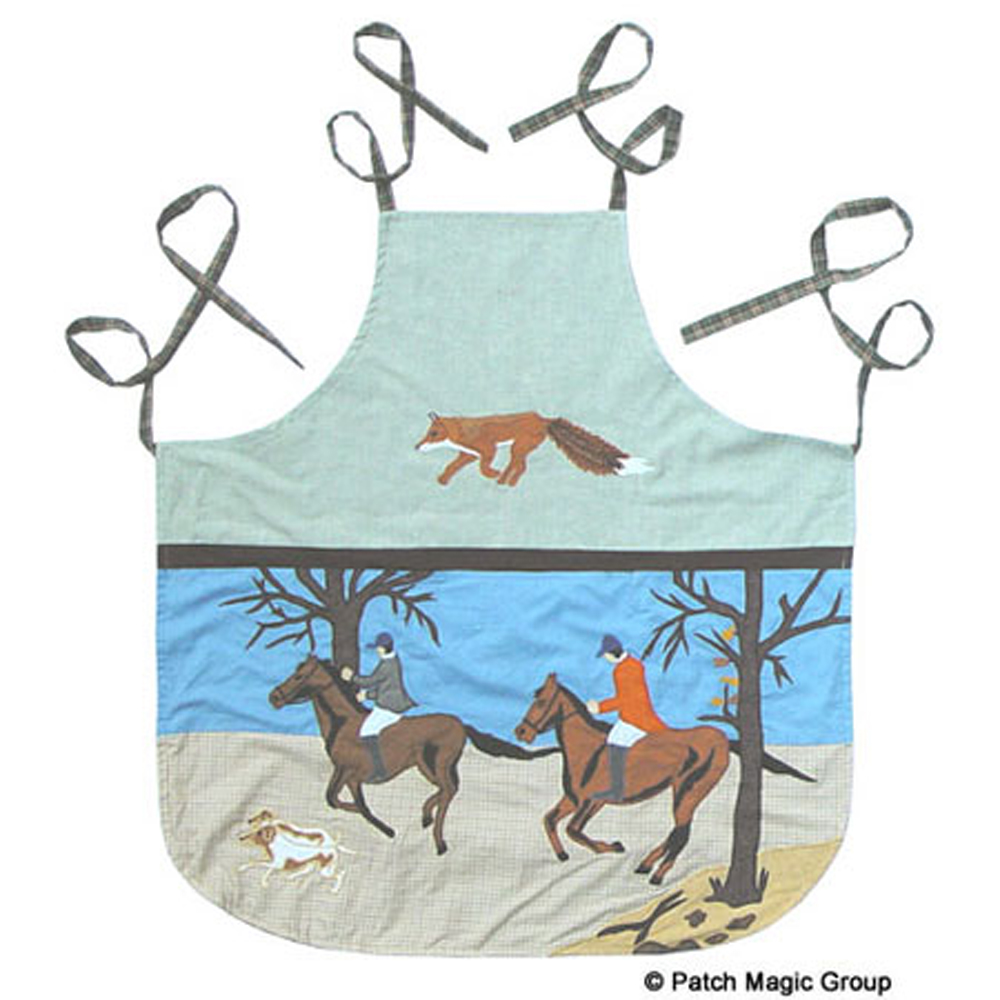 "Fox Hunt Apron 27""W x 29""L"