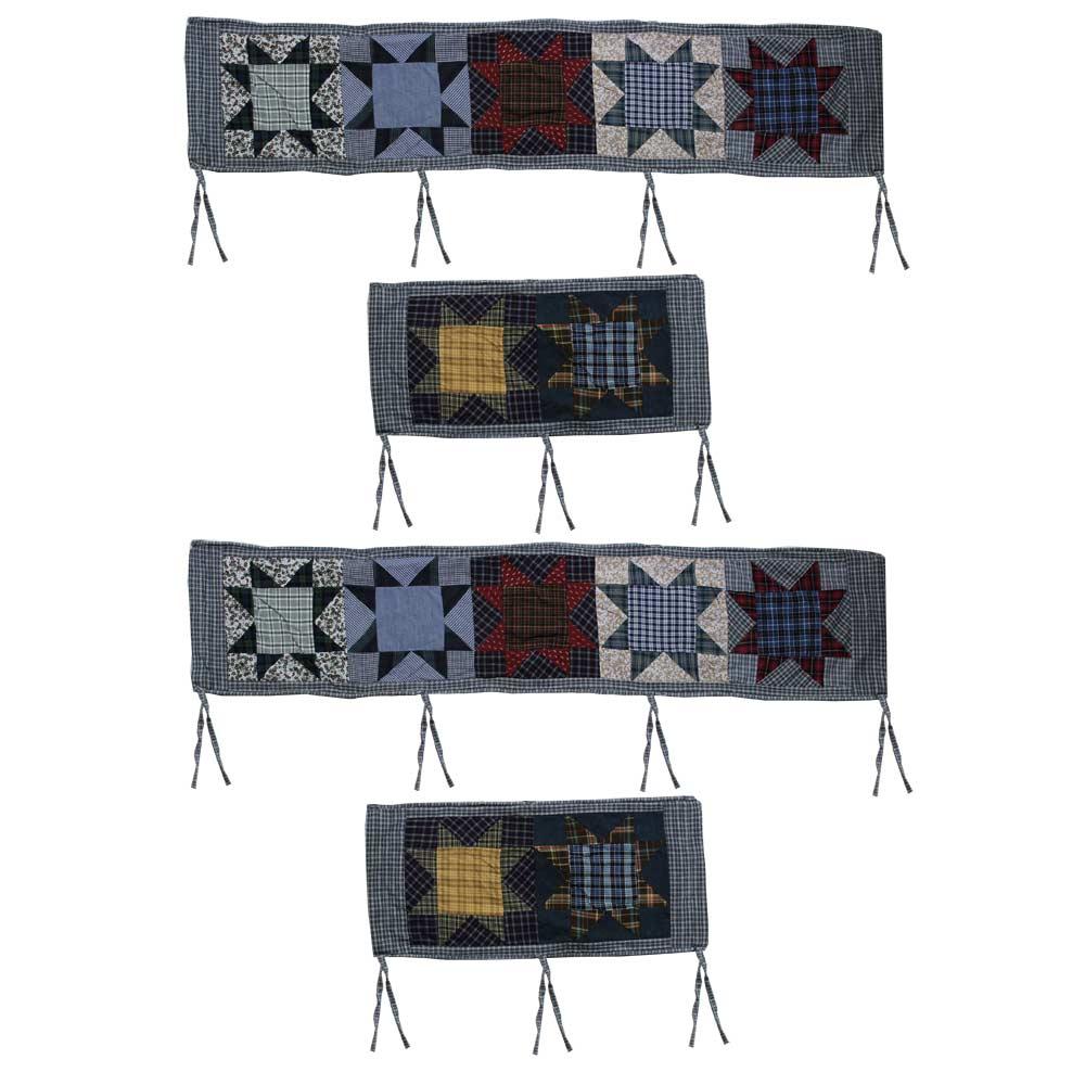"Denim Burst Bumper Pads 10""x52"" & 10""x25"" 2 EA"