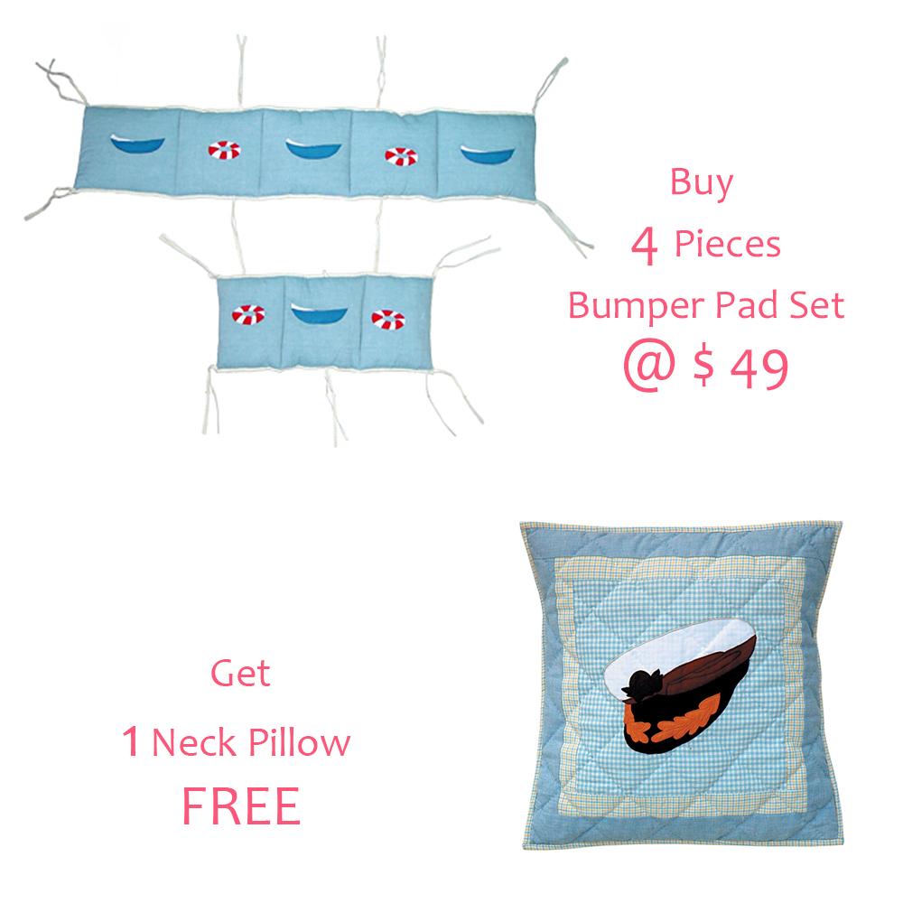 """Sailor's Delight Bumper Pads 10""""x52"""" & 10""""x25"""" 2 EA"""