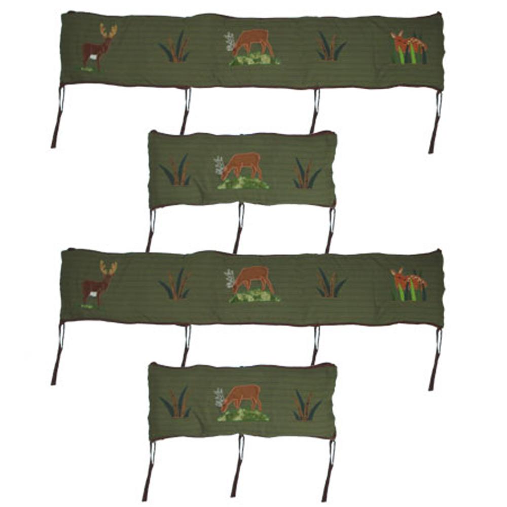 "Whitetail Deer Grove Bumper Pads 10""x52"" & 10""x25"" 2 EA"