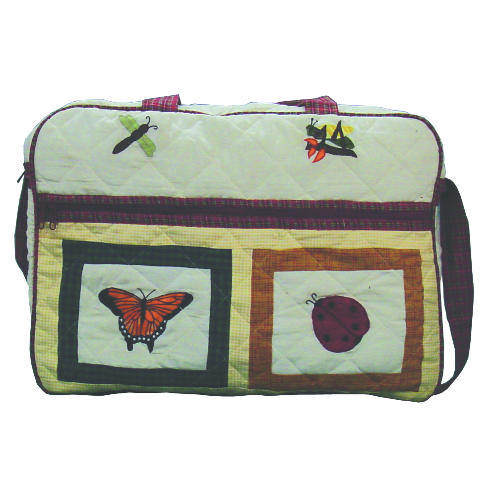 "Bug Garden day Purse bag 17""x 3""x 15"""