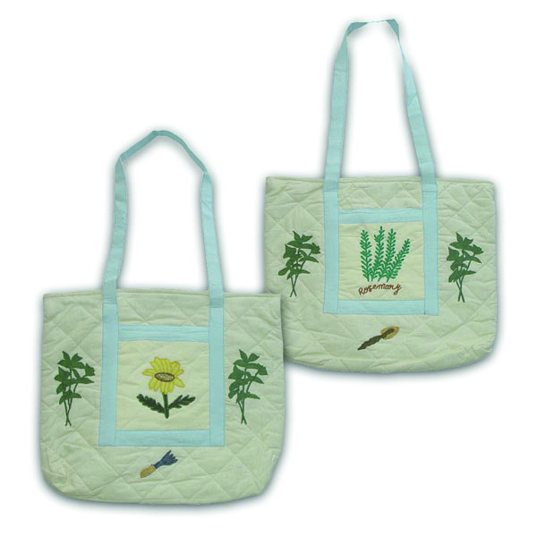 "Herb Garden day Purse bag 17""x3""x15"""