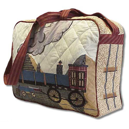 "Train day Purse bag 17""x 3""x 15"""