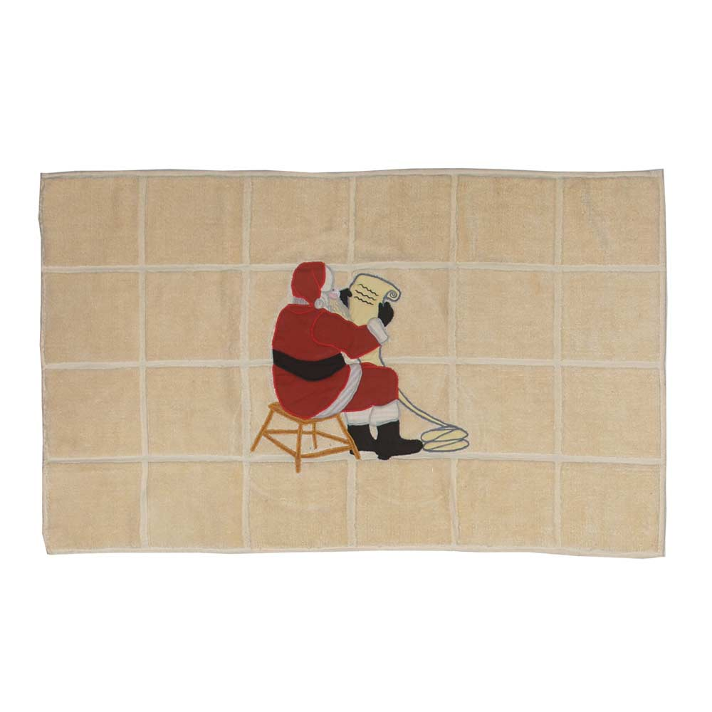 "Santa by the Fireside Bath Mat 34""W x 21""L"