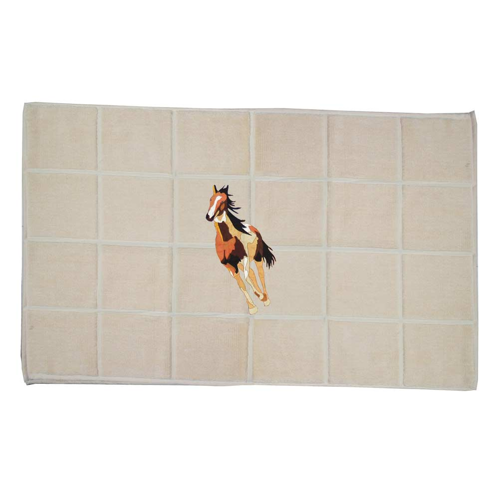 "Wild Horses Bath Mat 34""W x 21""L"