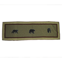 "Bear Country King Bed Runner or Scarf 30""W x 100""L"