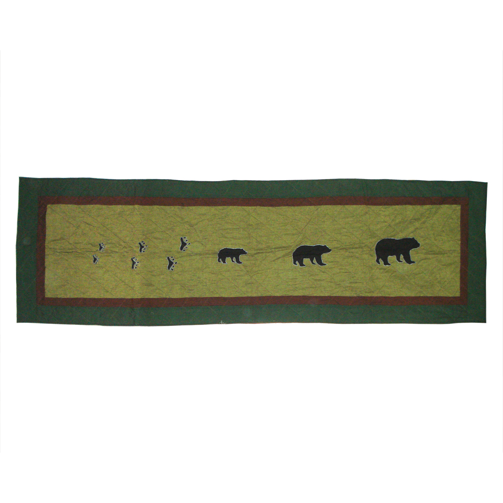 "Bear Trail King Bed Runner or Scarf 30""W x 100""L"