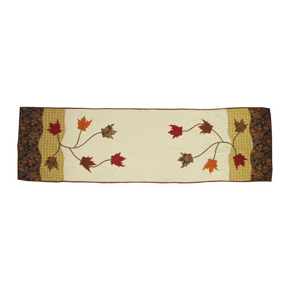 "Autumn Leaves Queen Bed Runner or Scarf 85""W x 30""L"