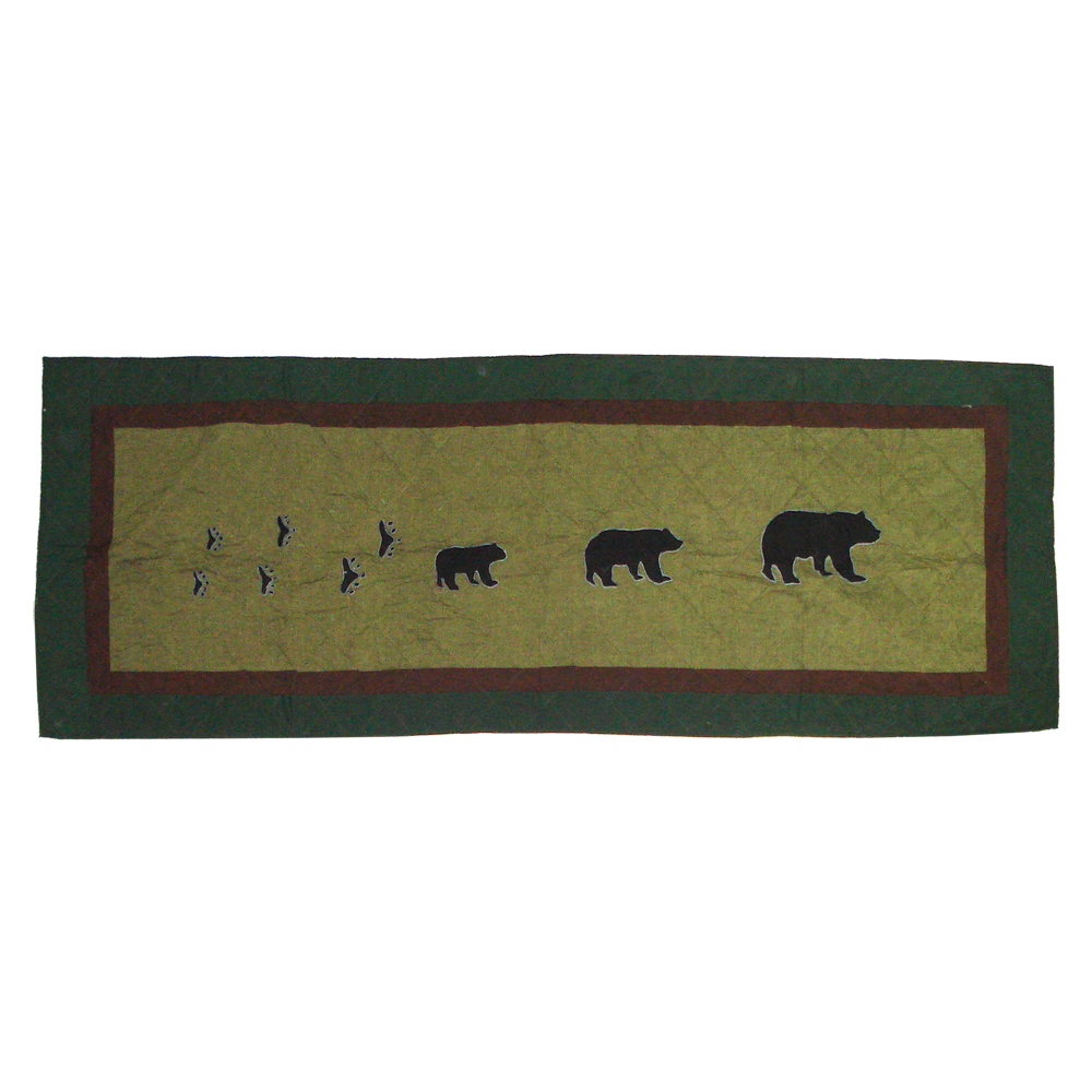 "Bear Trail Queen Bed Runner or Scarf 85""W x 30""L"