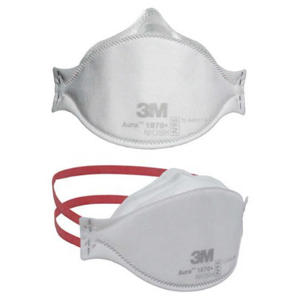 3M Respirator Mask, N95 Model# 1870+, Set of 10 Pieces