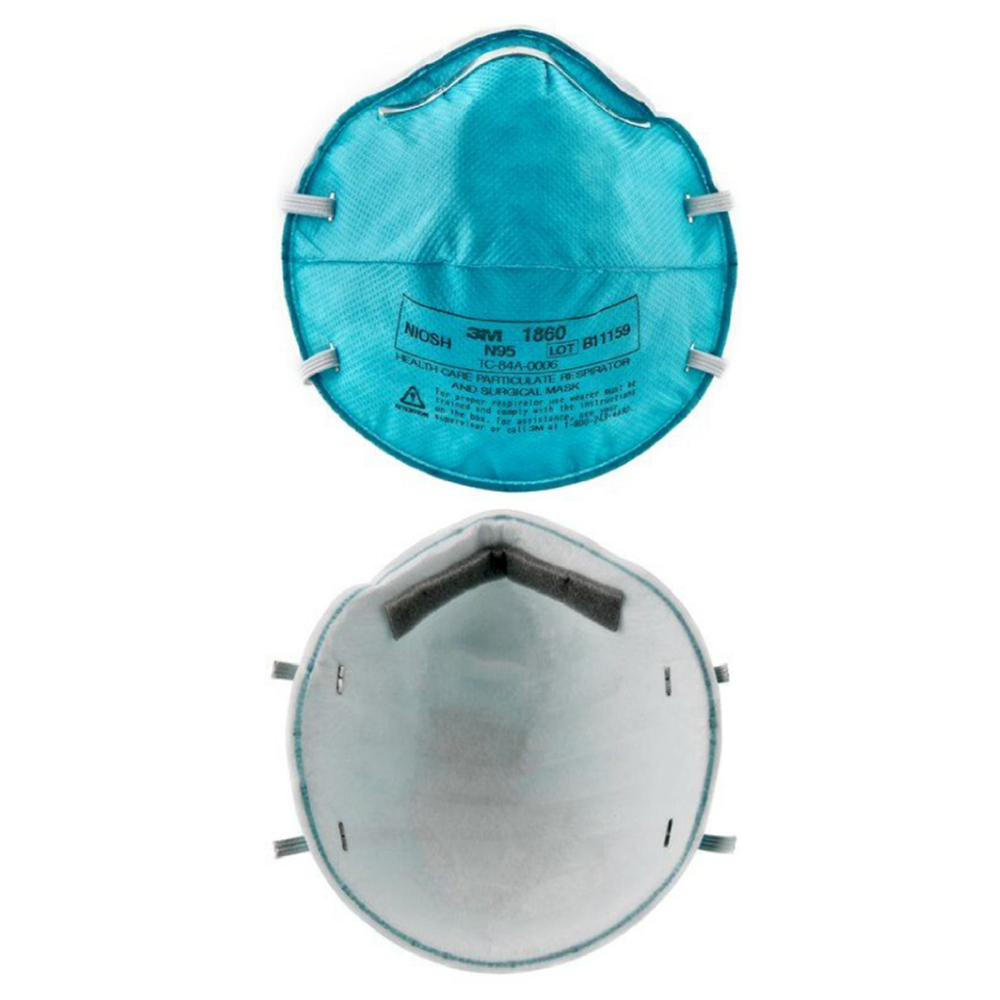 3M Respirator Mask, N95 Model# 1860, Set of 5 Pieces