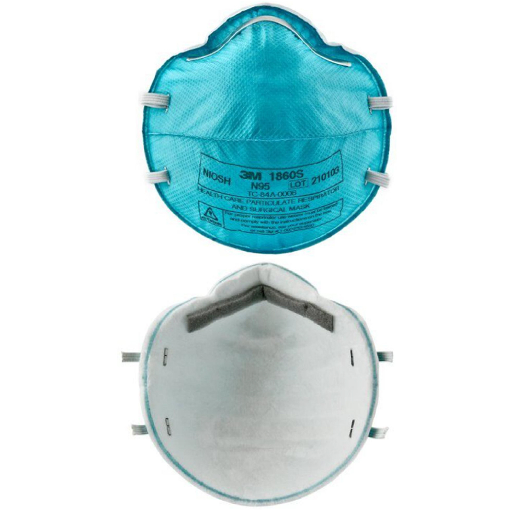 3M Respirator Mask, N95 Model# 1860S, Set of 10 Pieces