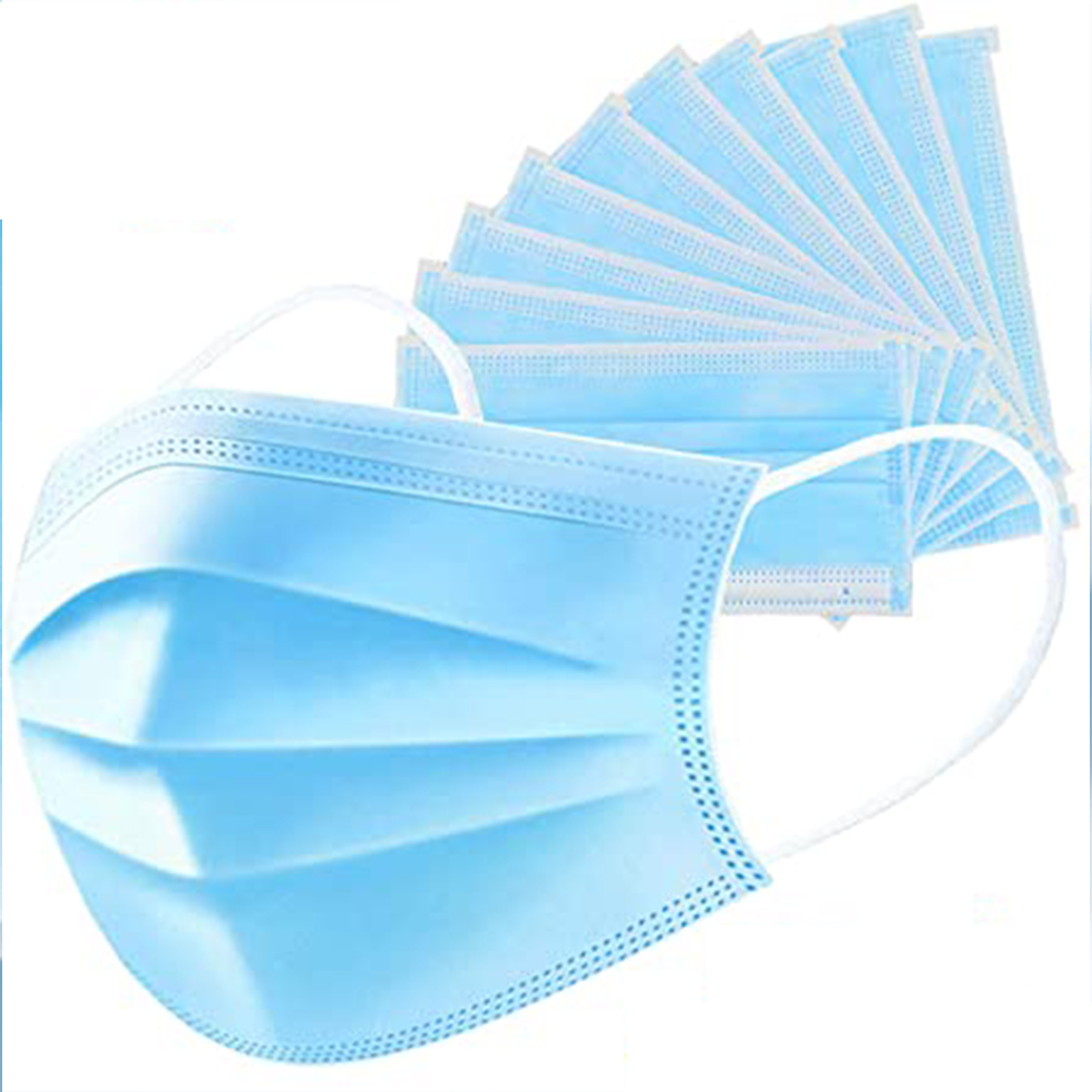 3 Layers Simple Disposable Non Woven Mask, Set of 25 Pieces