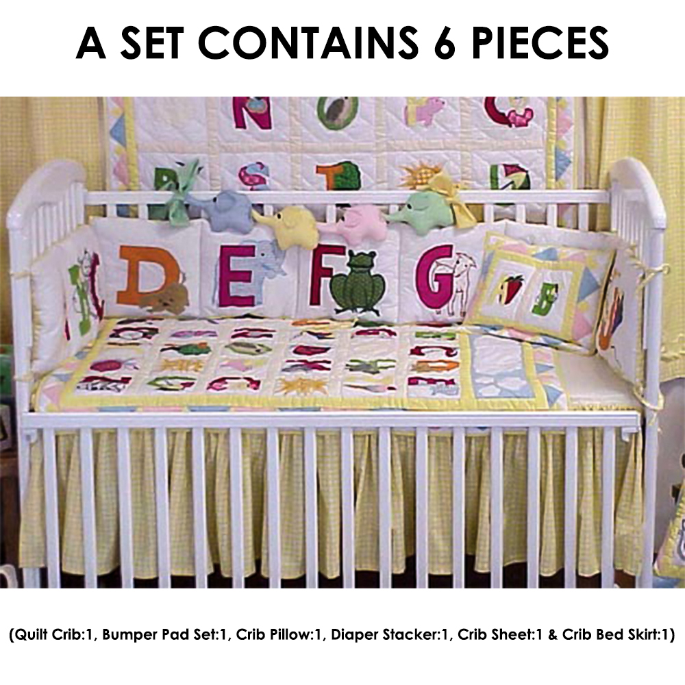 ABC Crib Set 6 Pieces