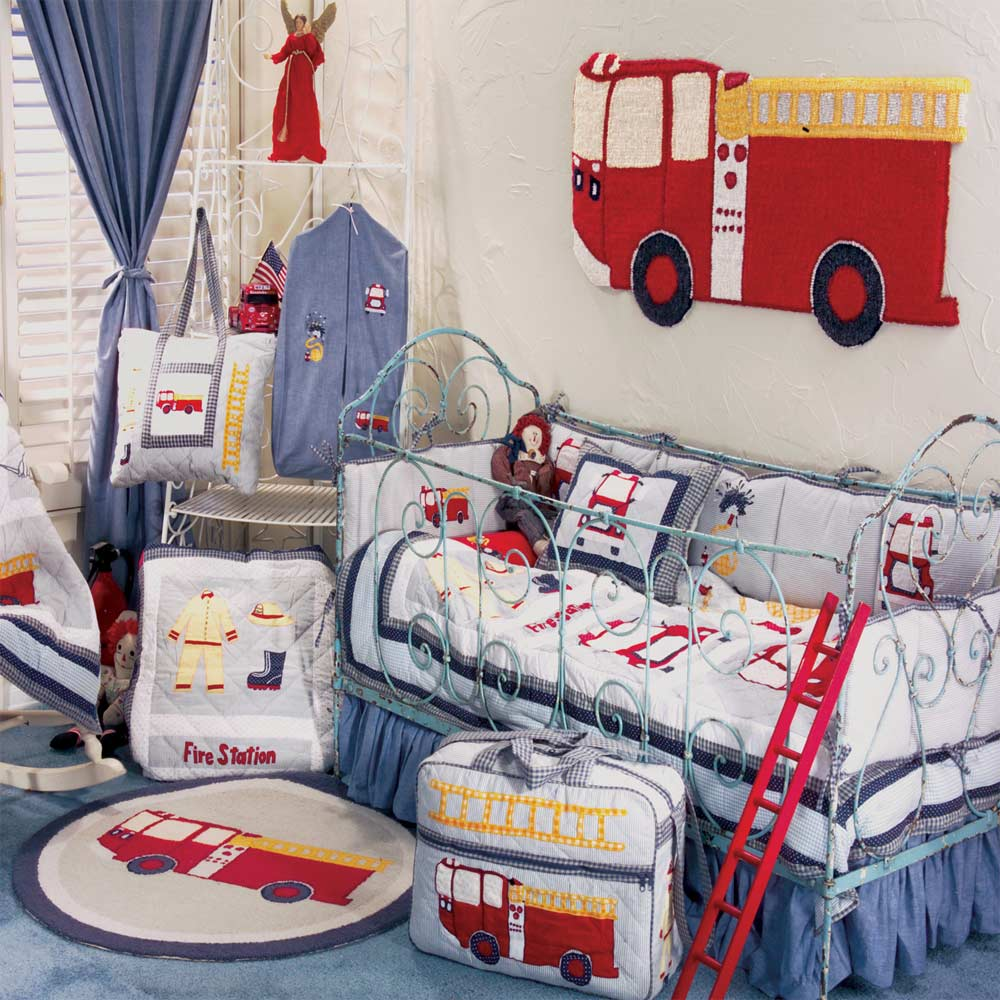 Fire Truck Crib Set 6 Pieces