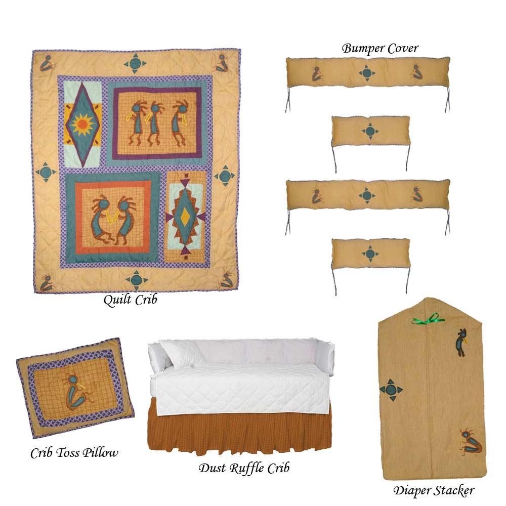 kokoepelli Crib Set 6 Pieces