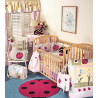 LadyBug Crib Set 6 Pieces