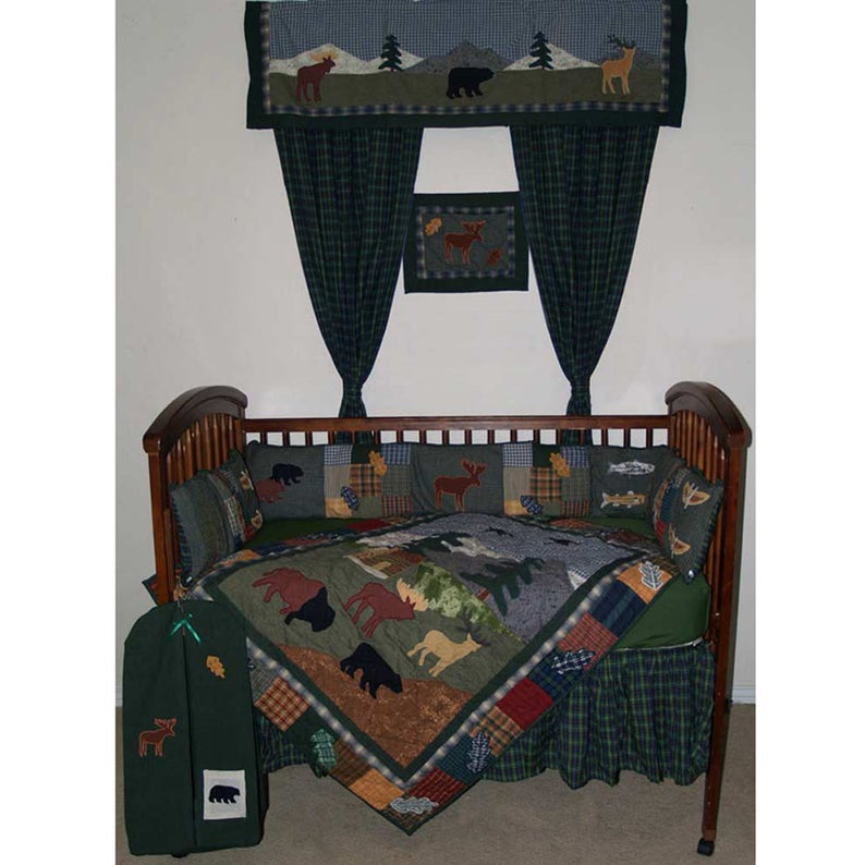 Northwoods Walk Crib Set 6 Pieces