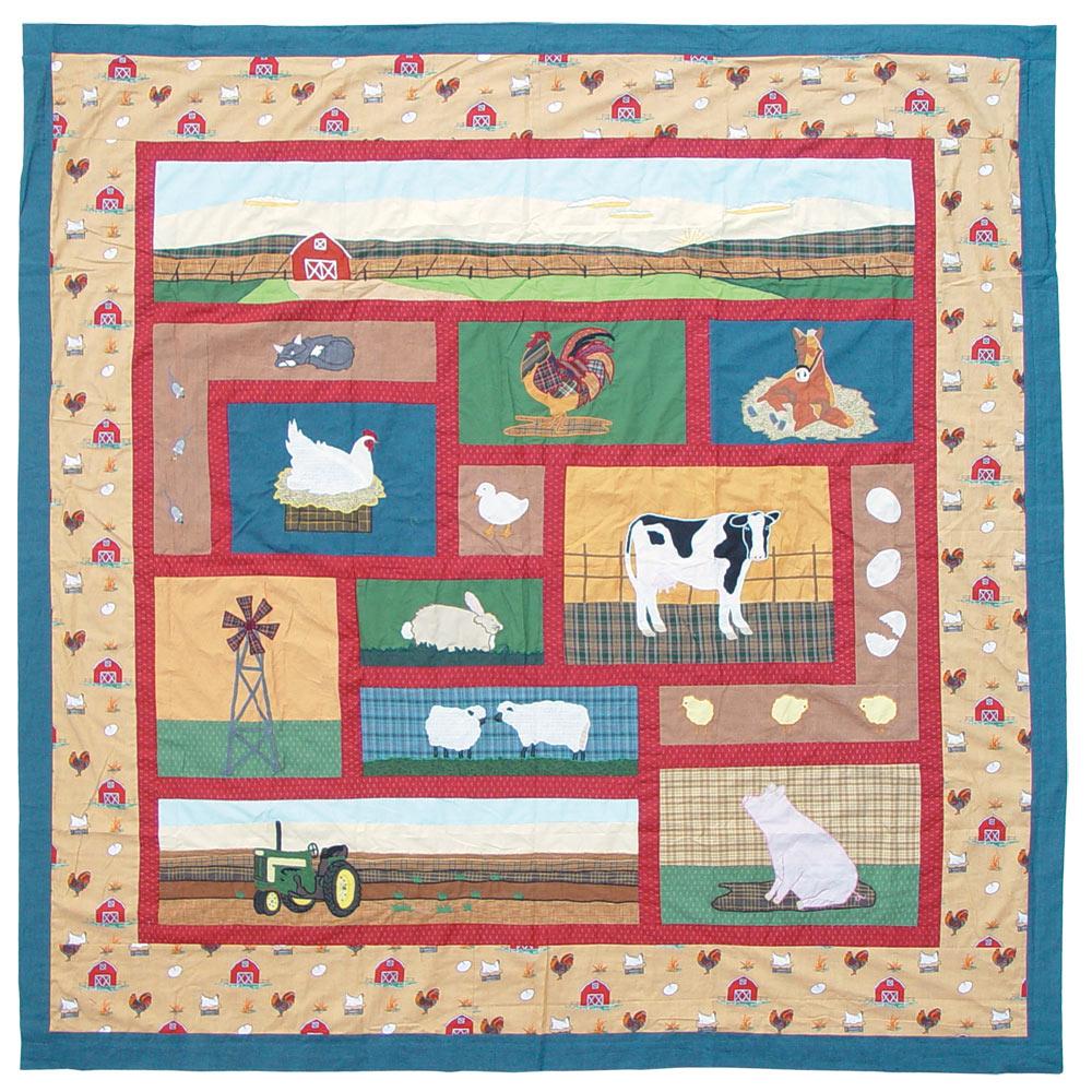 "Barnyard Animals Shower Curtain 72""W x 72""L"