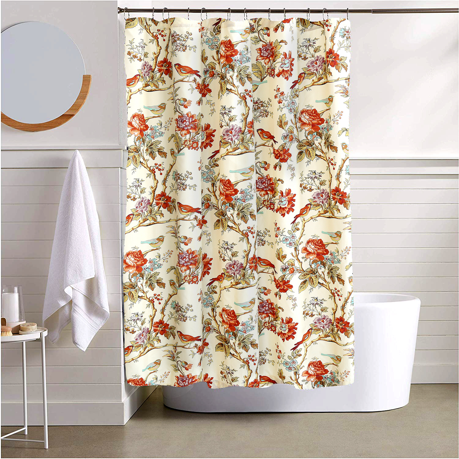 """Finch Orchard Shower Curtain 72""""W x 72""""L"""