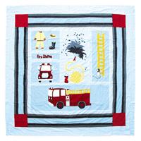 """Fire Truck Shower Curtain 72""""W x 72""""L"""
