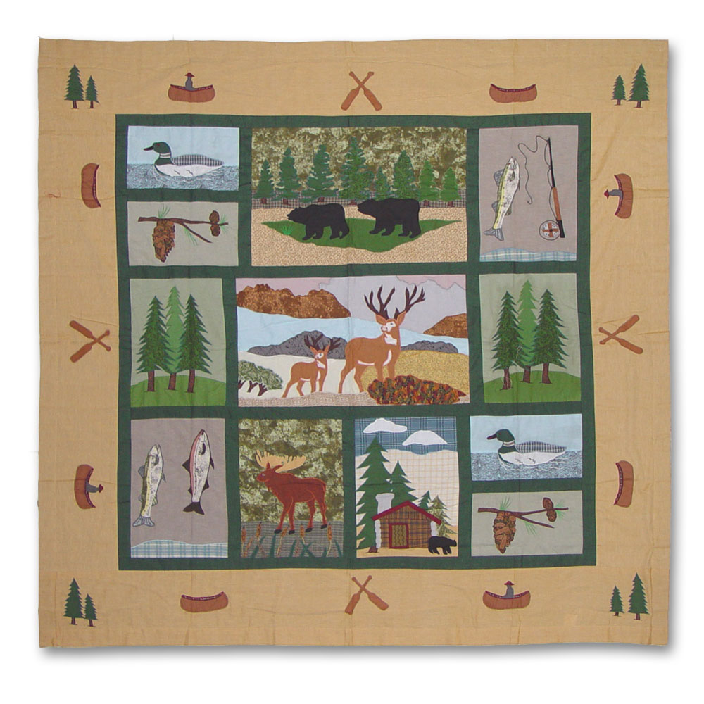 """Lodge Fever Shower Curtain 72""""W x 72""""L"""