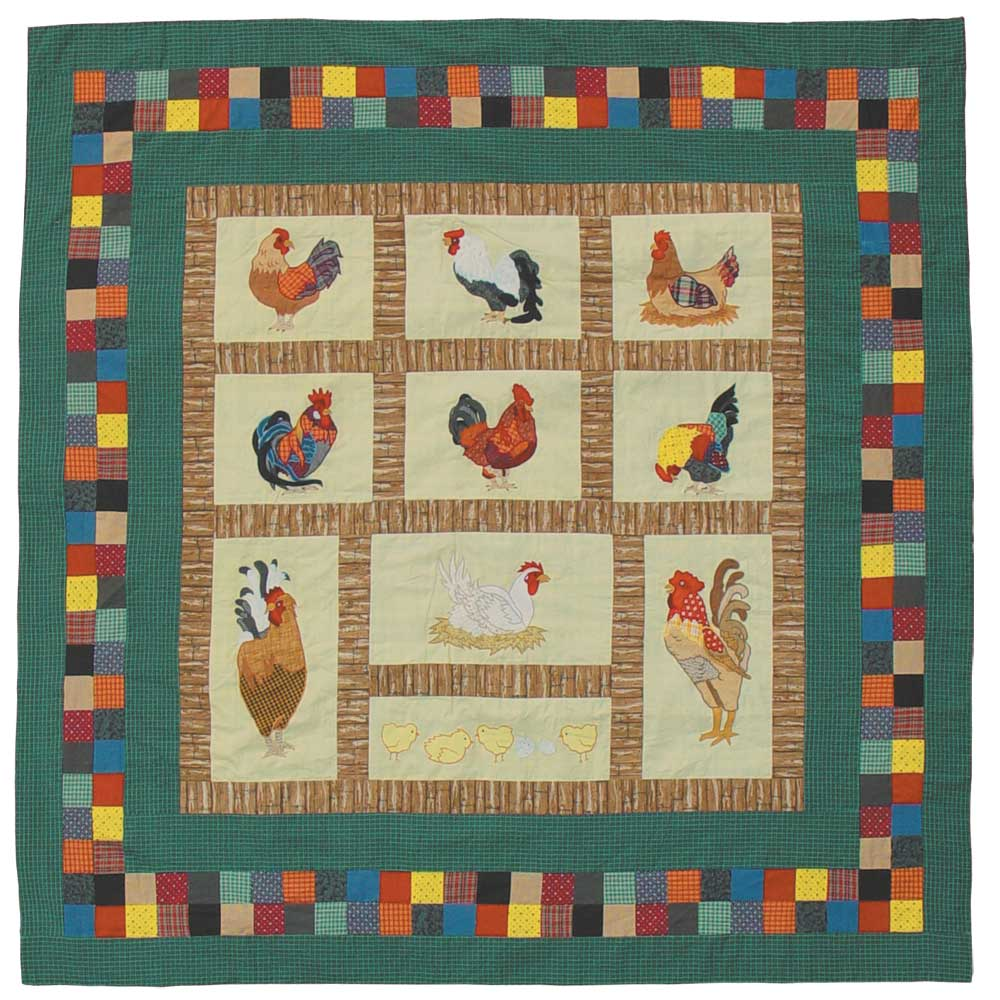 """Rooster Shower Curtain 72""""W x 72""""L"""