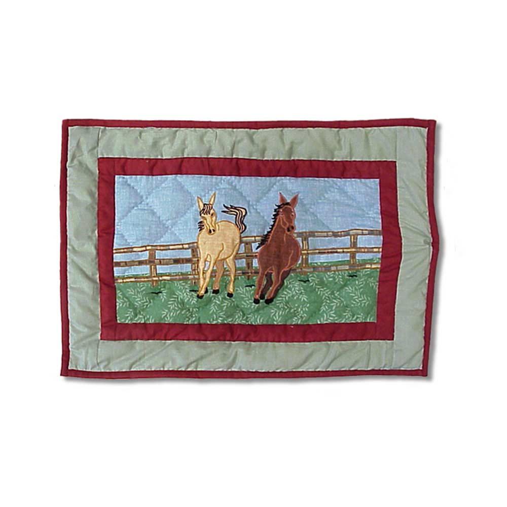"Horse Crib Pillow 12""W x 16""L"