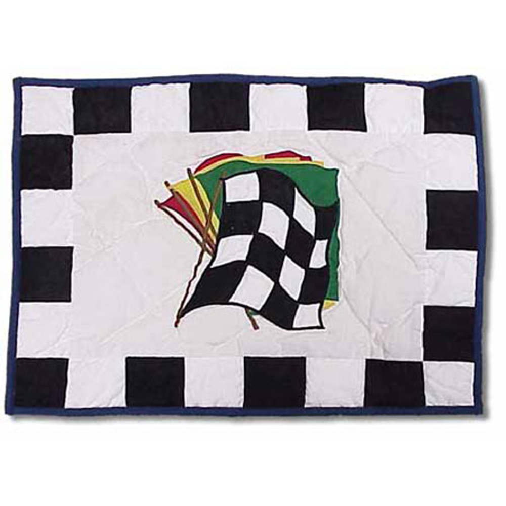 "Racecar Baby Pillow 12""W x 16""L"