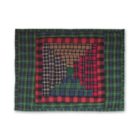 "Tartan Log Cabin neck toss pillow 12""w x 16""l"