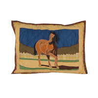 "Wild Horses crib toss pillow 12""w x 16""l"