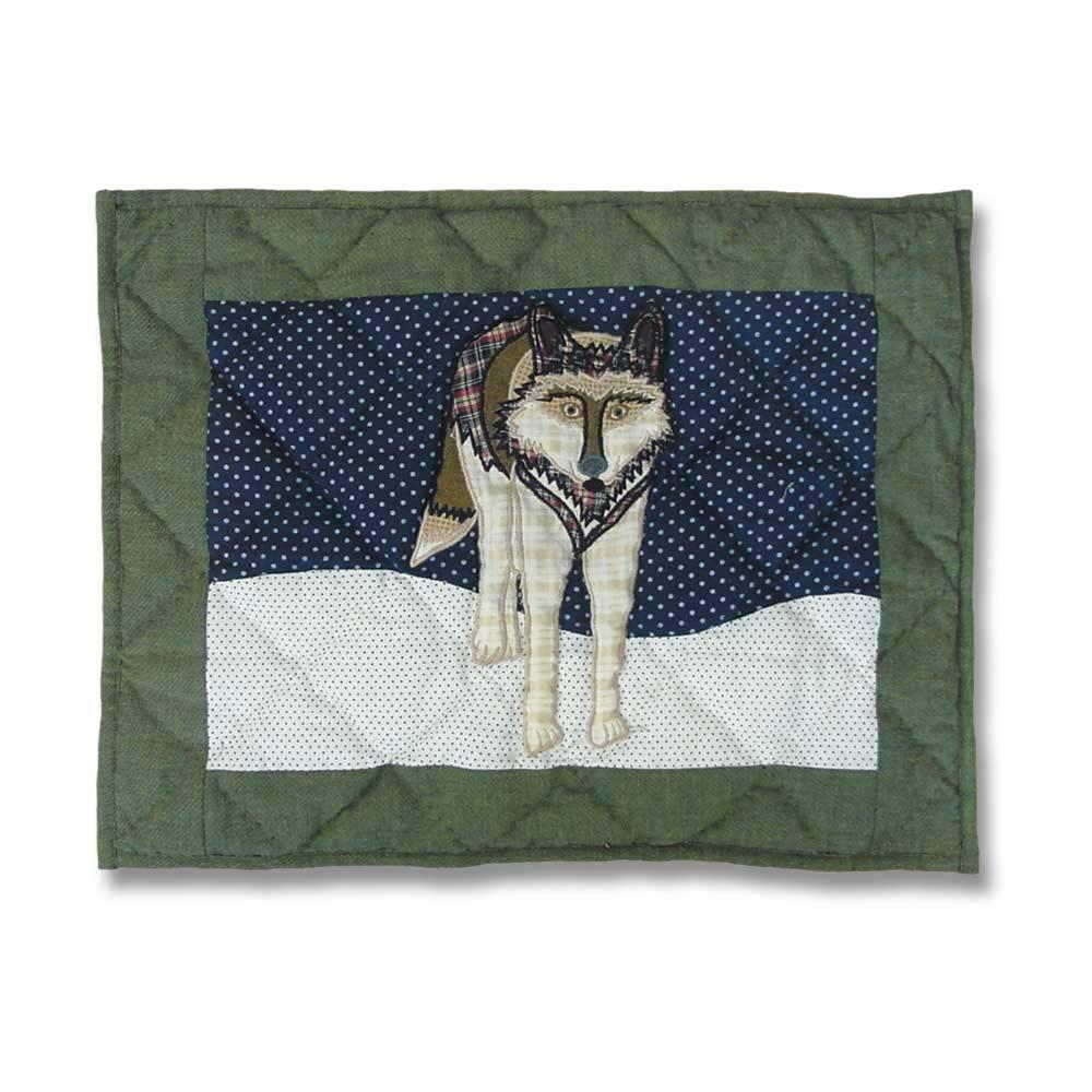"""Wolf Crib Pillow 12""""W x 16""""L"""