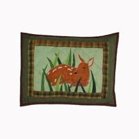 """Whitetail Deer Grove crib toss pillow 12""""w x 16""""l"""
