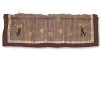"""Brown Elk Curtain Valance 54""""W x 16""""L"""