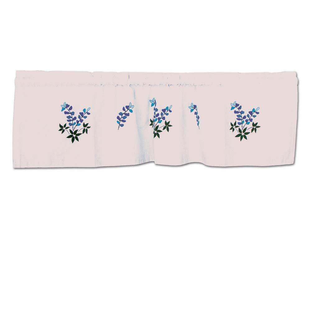 "Blue Bonnets Curtain Valance 54""W x 16""L"