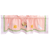 "Fairy Tale Princess Curtain Valance 54""W x 16""L"