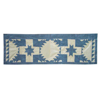 "Feathered Star Curtain Valance 54""W x 16""L"