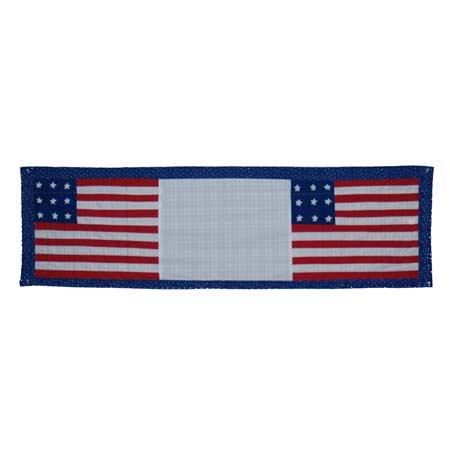 "Flag Curtain Valance 54""W x 16""L"