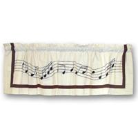"Music Curtain Valance 54""W x 16""L"