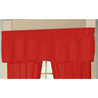 "Bright Red Solid curtain valance 54""x 16"""