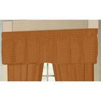 """Golden Rod Plaid Curtain Valance 54""""W x 16""""L"""