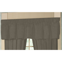 "Sage Green Chambray Curtain Valance 54""W x 16""L"