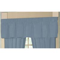 "Light Blue Denim Chambray Curtain Valance 54""W x 16""L"