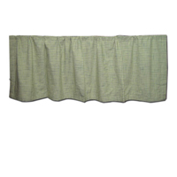 "Apple green and seashell gingham Curtain Valance 54""W x 16""L"
