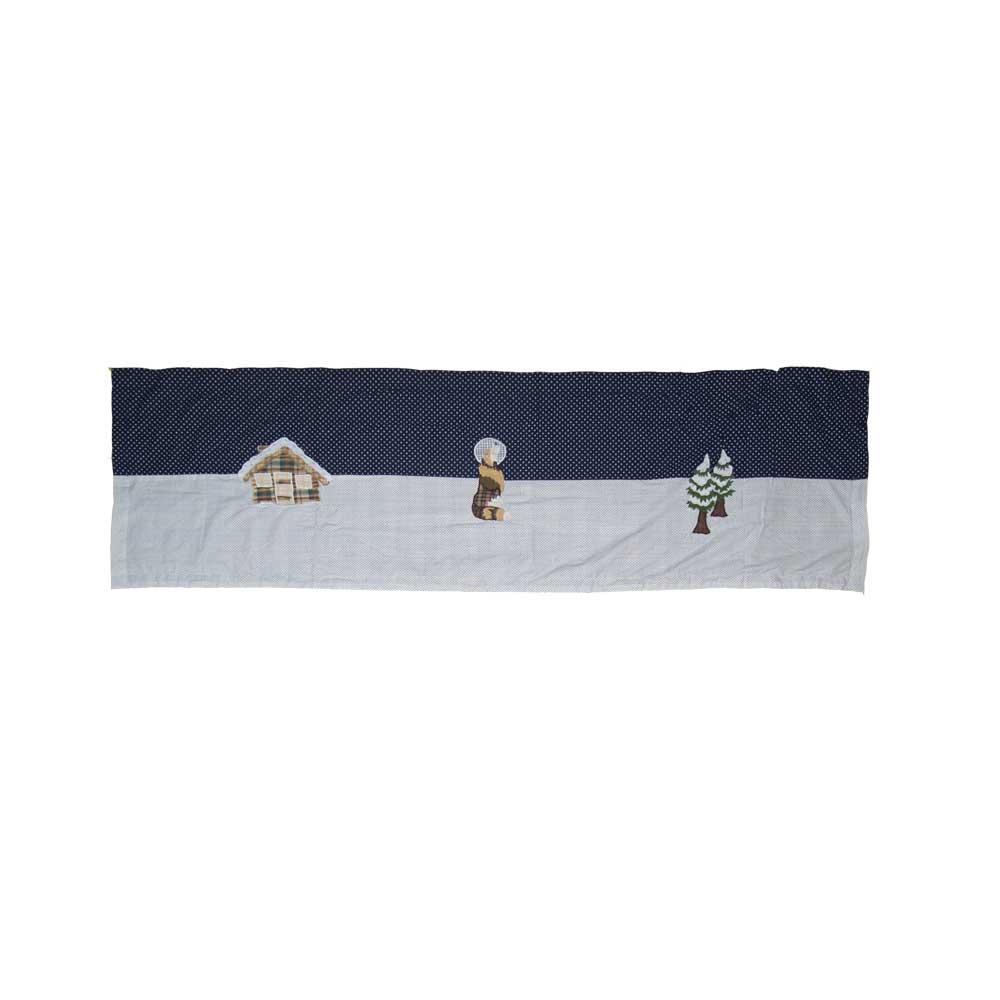 """Wolf Curtain Valance 54""""W x 16""""L"""