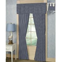 """Blue Ecru Gingam Window Curtain 40""""W x 84""""L"""