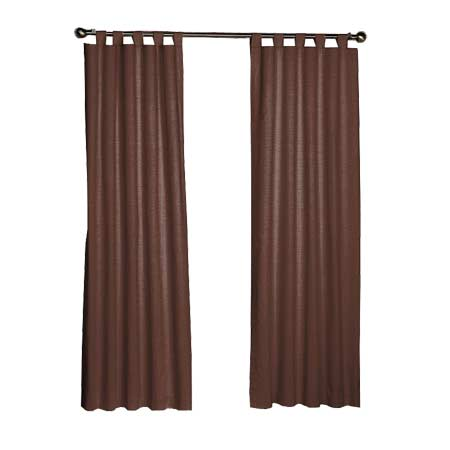 "Chocolate Brown Chambray Window Curtain 40""W x 84""L"