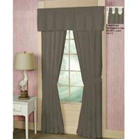 "Sage Green Chambray Window Curtain 40""W x 84""L"
