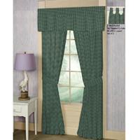 "Homespun Green Check Window Curtain 40""W x 84""L"