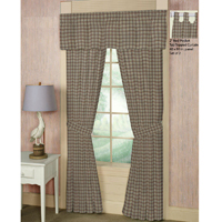 "Pale Yellow Large Plaid Window Curtain 40""W x 84""L"